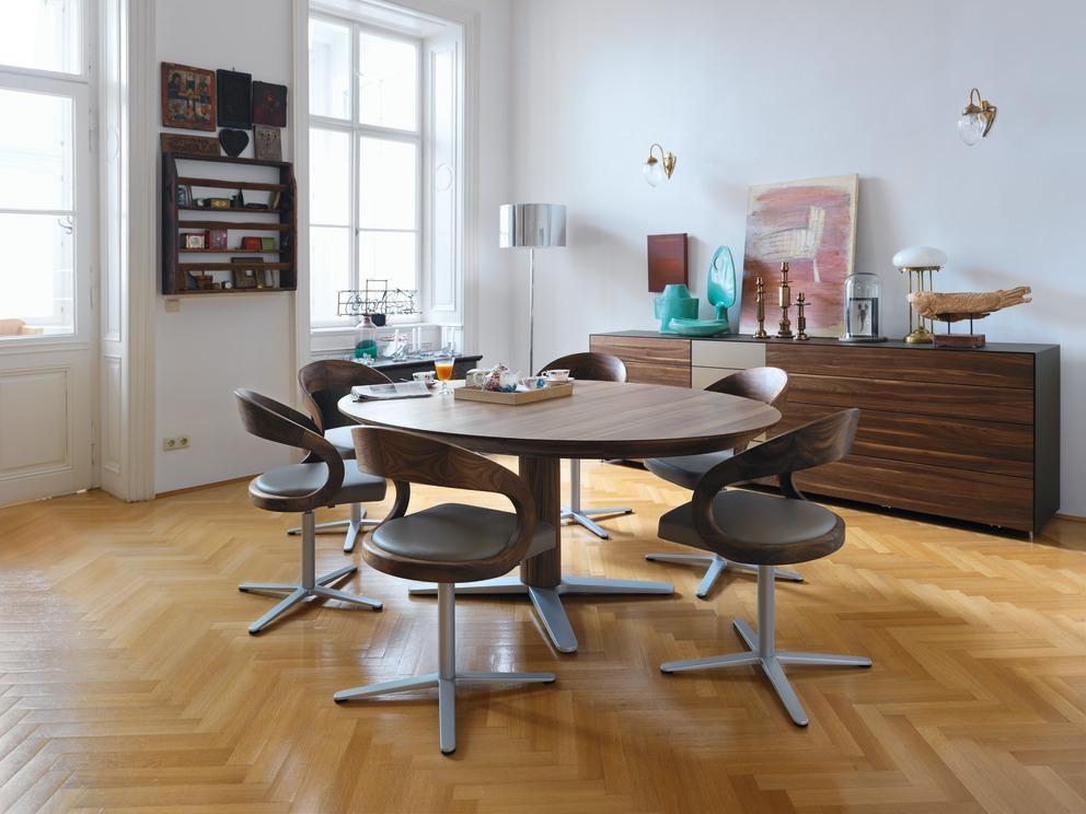 tisch girado team 7 wohnwiese jette schlund ellingen. Black Bedroom Furniture Sets. Home Design Ideas