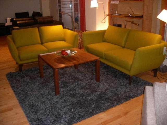 Wollfilzsofas Lens grün 2-Sitzer und 2,5 Sitzer