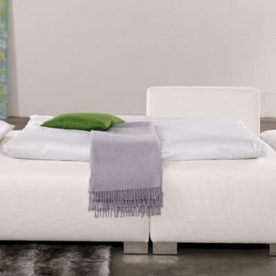 Schlafsofa Monza ausgeklappt zum bequemen Doppelbett