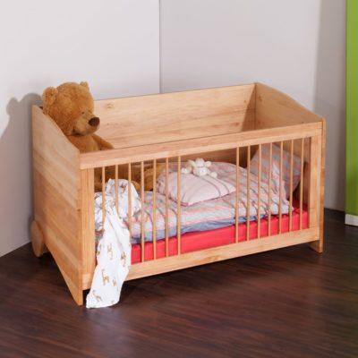 Massivholz Kinderbett BeneVita mit Schlupfstäben