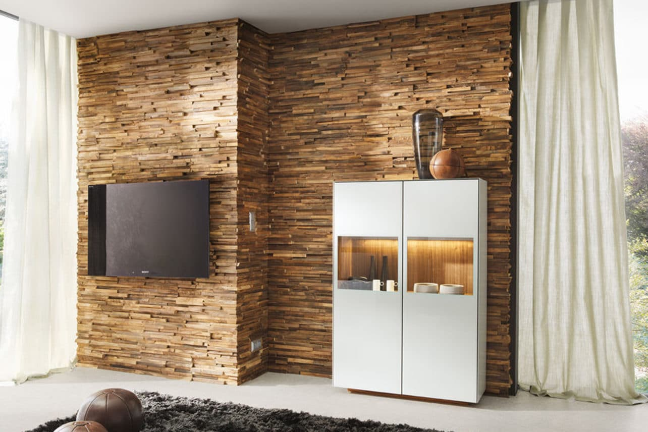 Wandverkleidung in Holz
