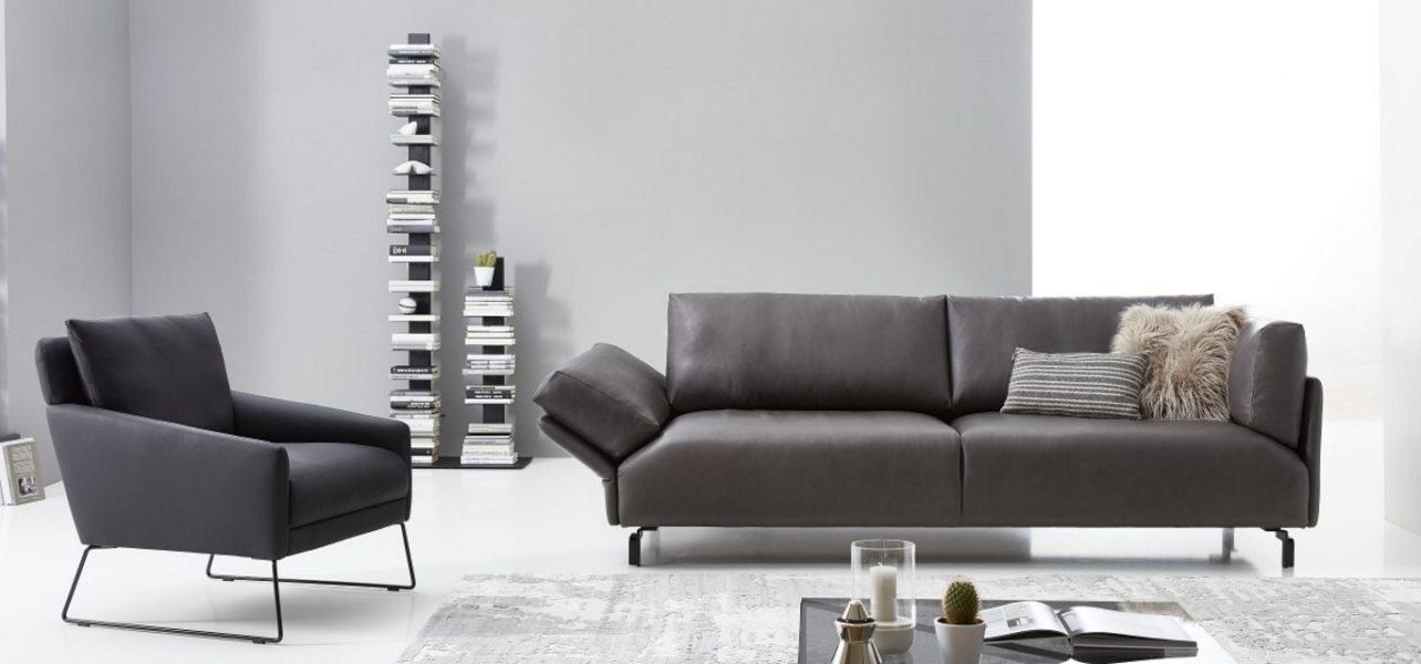 Sofa Blume- Sessel Sané- Leder- KlappFunktion