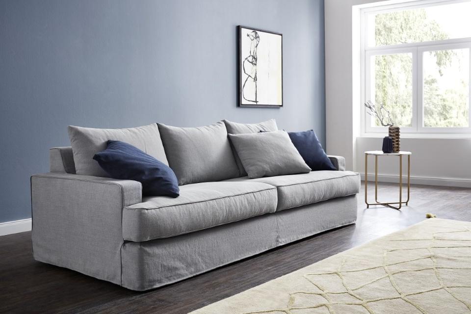 Sofa mit Husse-Yerva-Stoff mit Keder Vio1-Wohnwiese