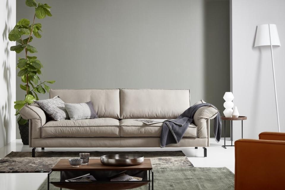 Sofa-mod.Design-SYDNEY-offene Naht-Klappbar-Leder Vio1-Wohnwiese