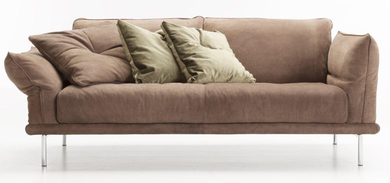 Sofa-modern Design-ELVIS-Memphis-braun-KlappArmlehnen-Wohnwiese