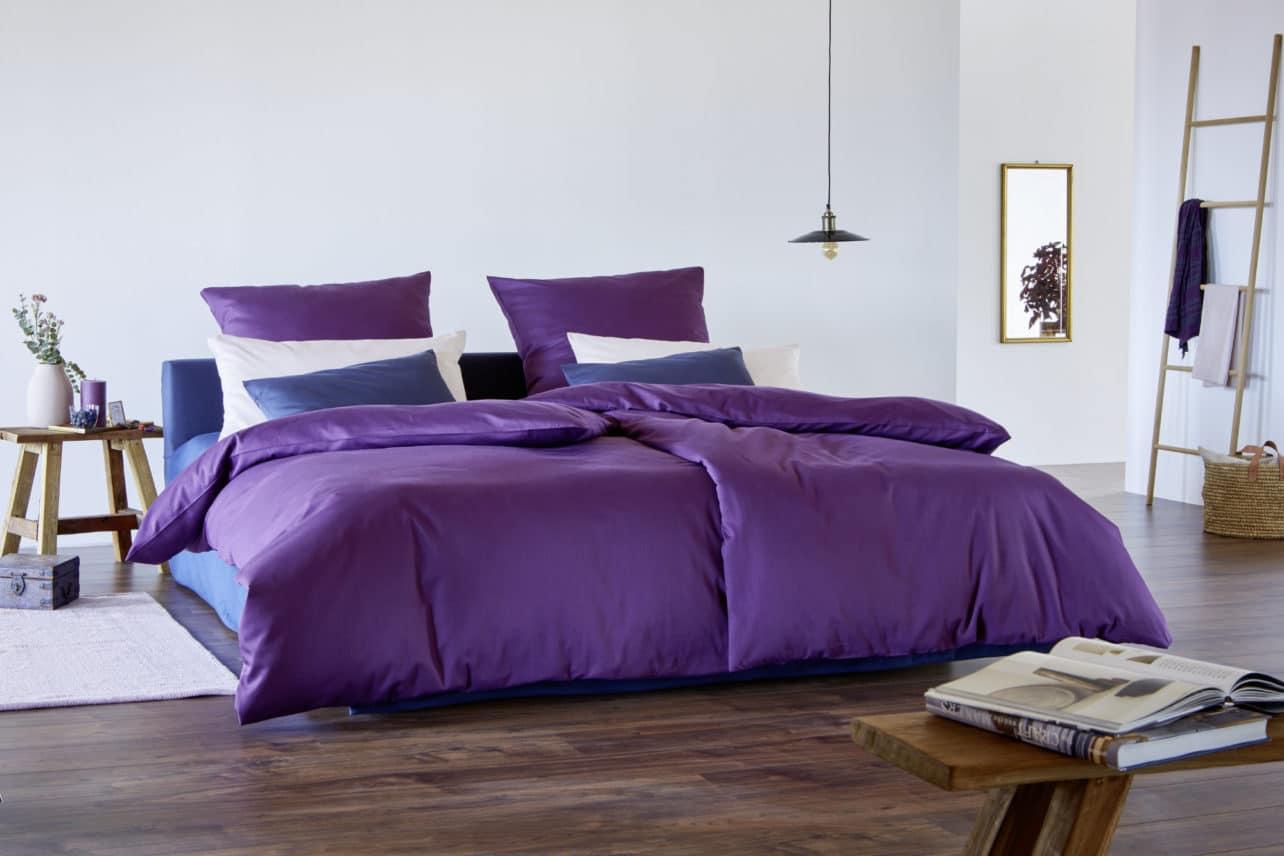 Satinbettwäsche Classic aus kbA Baumwolle in verschiedenen Farbtönen erhältlich