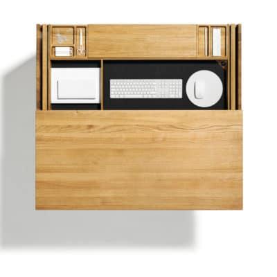 Sekretär Cubus von Team 7, ausziehbare Schreibtischplatte